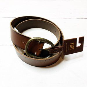 BNWT Frye Brown 38MM Leather Belt perforated edge